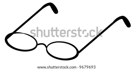 reading glasses or spectacles - vector image - stock vector