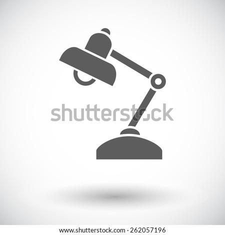 Reading-lamp. Single flat icon on white background. Vector illustration. - stock vector