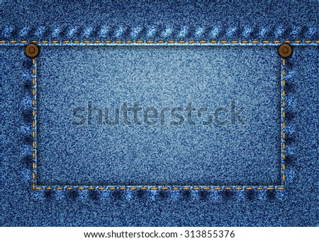 real blue jeans texture with pocket and buttons