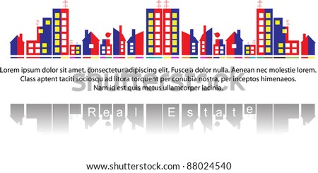 Real estate - stock vector