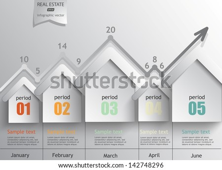 real estate - a concept vector infographics / eps10. - stock vector