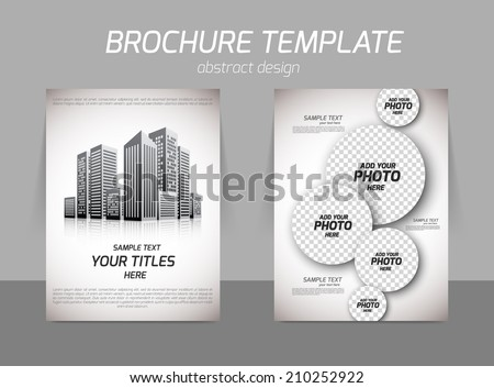 Real estate building skyscraper office back and front flyer template - stock vector