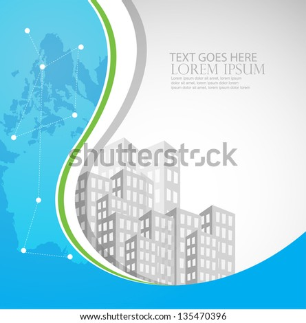 real estate business background/template - stock vector