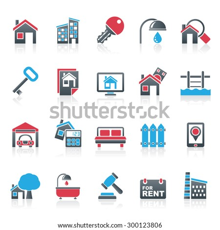Real Estate business Icons - Vector Icon Set - stock vector