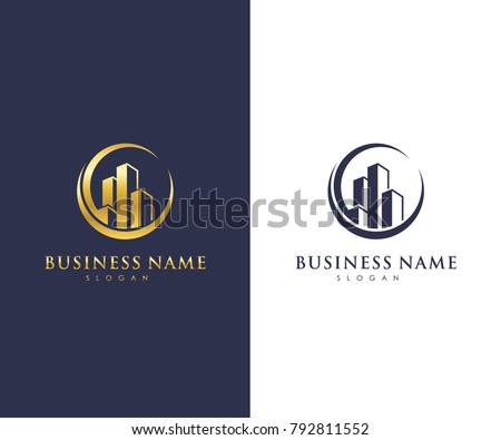 Real estate business logo template building stock vector royalty real estate business logo template building property development and construction logo vector design accmission Choice Image