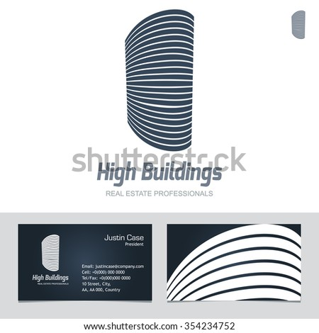 Real estate business sign business card stock vector hd royalty real estate business sign business card vector template for architecture bureau home insurance reheart Images