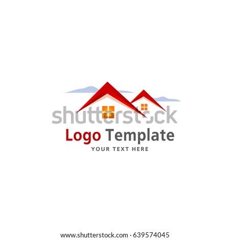 real estate company logo template vector stock vector 639574045