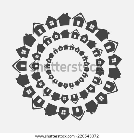 Real estate concept - stock vector