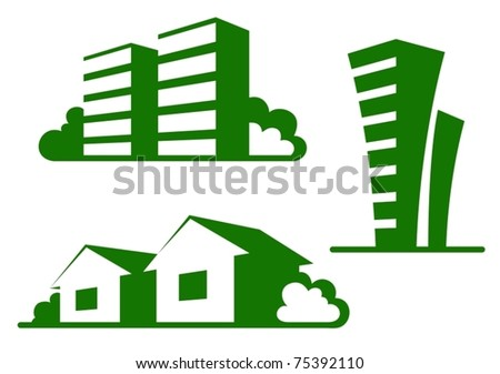Real estate concept illustration - stock vector