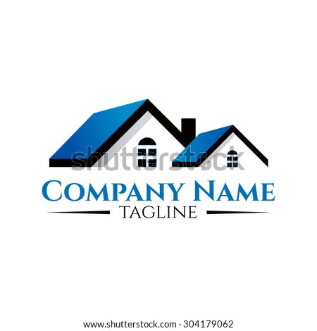 Real Estate concept vector logo design template.Creative business symbol. Building abstract icon. Corporate sign. - stock vector