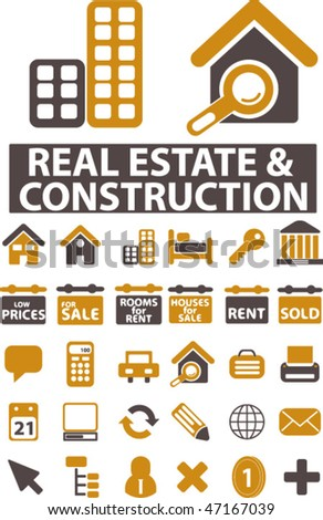 real estate & construction signs. vector - stock vector
