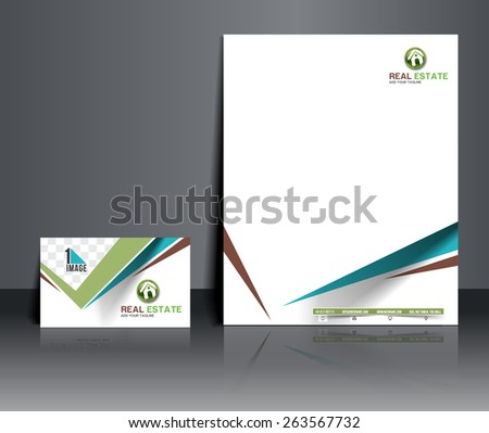 Real estate Corporate Identity Template. - stock vector
