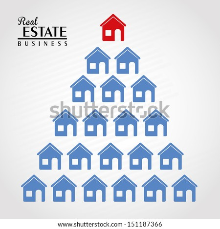 real estate design over gray background vector illustration  - stock vector