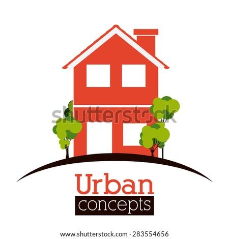 Real Estate  design over white backgound, vector illustration  - stock vector