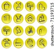 real estate home icon set - stock vector