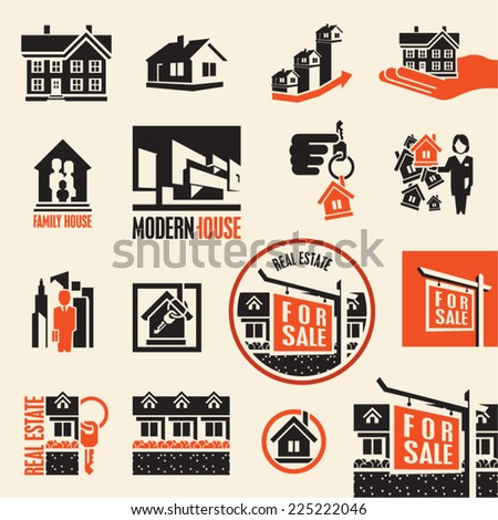 Real estate. House icon. - stock vector