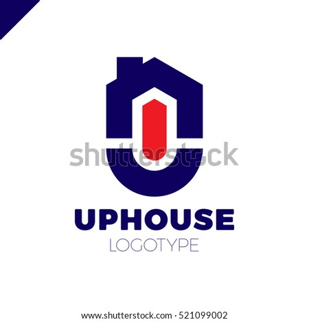 Real estate house logo circle arrow stock vector 521099113 for Minimalist house logo