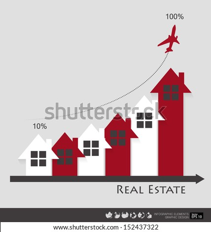 Real Estate House. Vector illustration. - stock vector