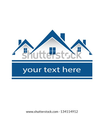 Real estate houses icon vector - stock vector