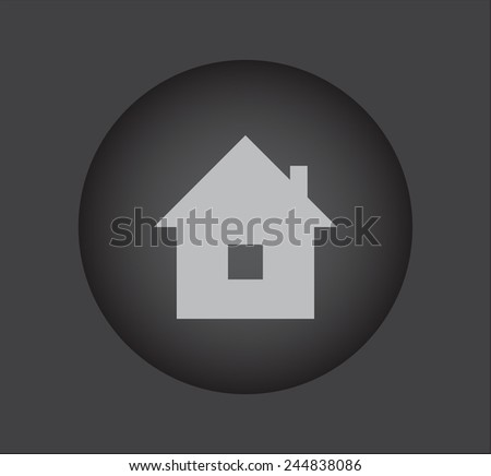 Real estate  icon on black button - stock vector
