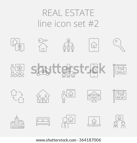 Real estate icon set. - stock vector