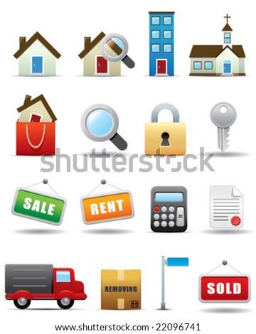 Real Estate Icon Set -- Premium Series - stock vector