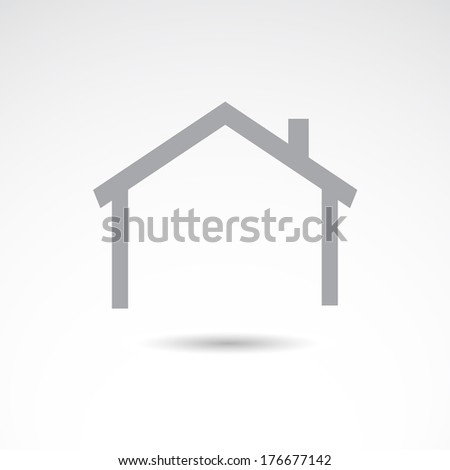Real estate icon. VECTOR illustration. - stock vector