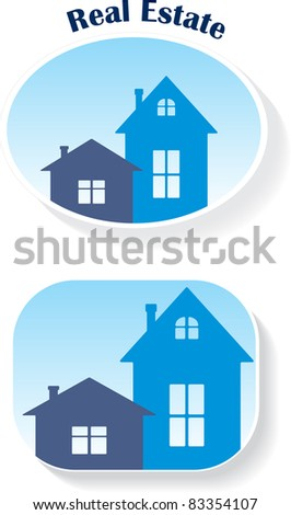 Real Estate (icons), vector illustration - stock vector