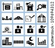 real estate, investment business icon set - stock vector