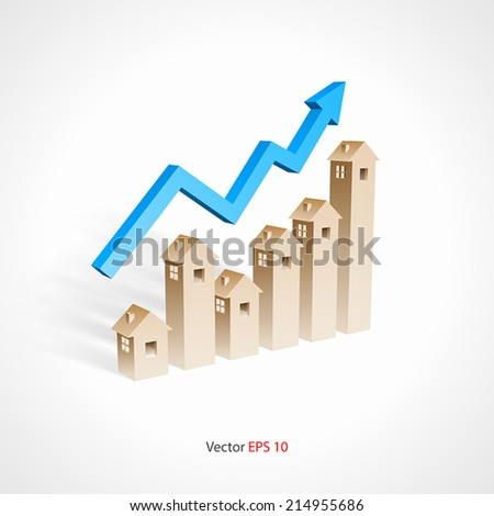 Real estate investment concept - stock vector