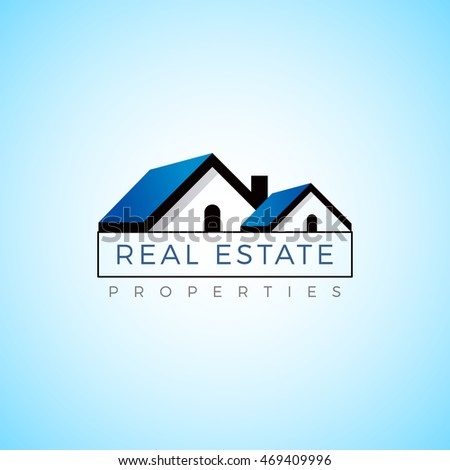 Real Estate Logo Vector Icon Cottage House Property Modern Template