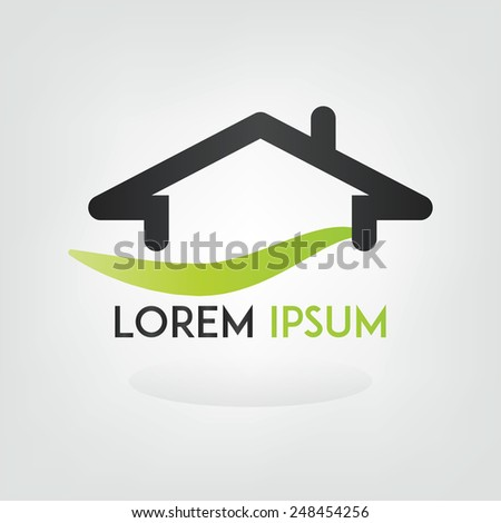 Real estate logo with room for custom text or brand name vector design. - stock vector