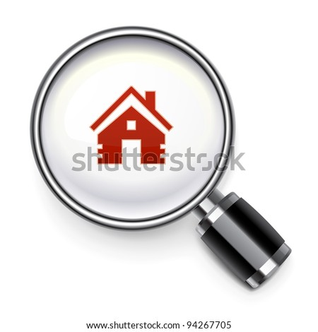 Real estate search concept - stock vector