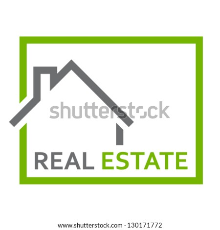 real estate sign - vector illustration - stock vector