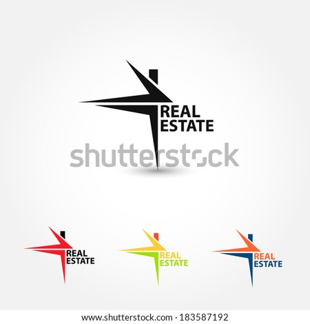 Real Estate. Symbol House Vector.