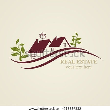 Real Estate Symbols  for Business Purposes.  - stock vector