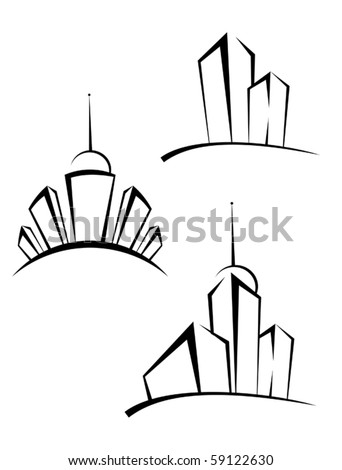 Real estate symbols for design and decorate - also as emblem or logo template. Jpeg version also available - stock vector