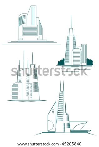 Real estate symbols for design and decorate - also as emblem or logo template. Jpeg version is also available - stock vector