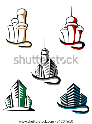 Real estate symbols for design and decorate or logo template. Jpeg version also available - stock vector