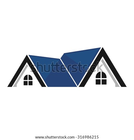 Real Estate Symbols Roofs Houses Buildings Stock Vector 316986215