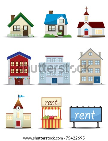 Real Estate Vector Icon - stock vector