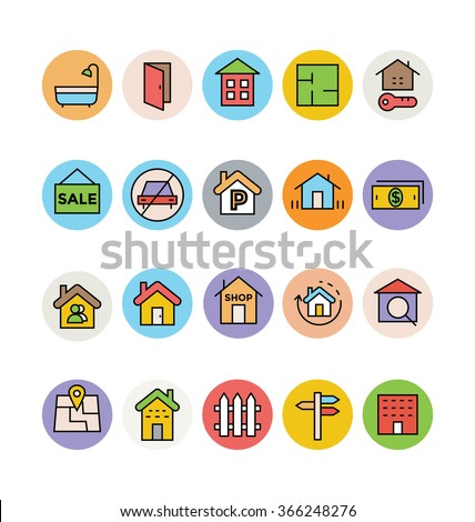 Real Estate Vector Icons 6 - stock vector