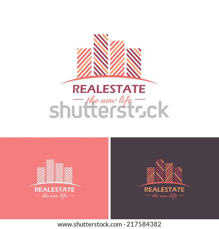 Real Estate Vector Icons, Logos, Sign, Symbol Template - stock vector