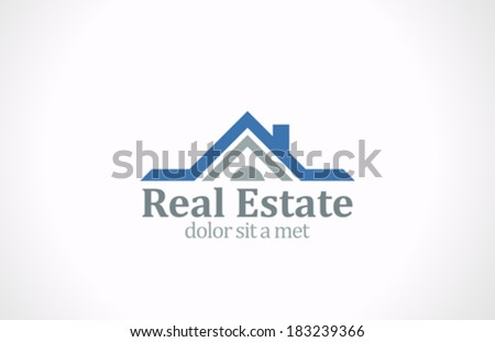 Real Estate vector logo design template. House abstract concept icon. Realty construction architecture symbol. - stock vector