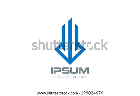 Real Estate vector logo design template. Luxury Fashion Concept.  Creative stylish emblem. - stock vector