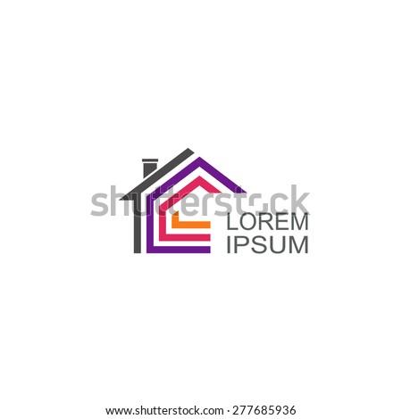 Real Estate vector logo. House abstract concept icon. - stock vector