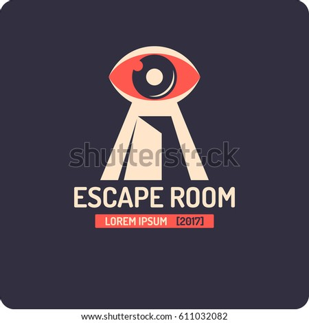 Real Life Room Escape And Quest Game Logo Vector Illustration