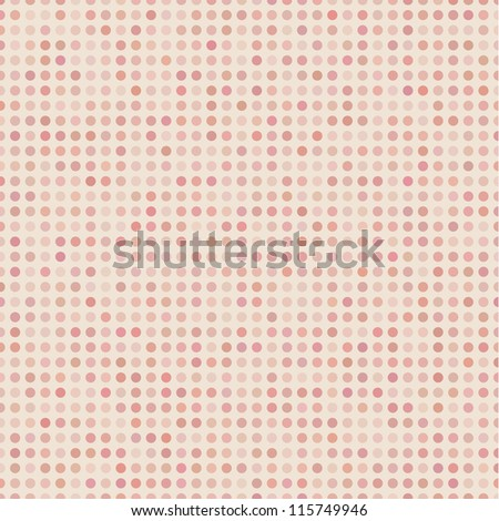 Real Seamless Abstract Background with Red Dots - stock vector