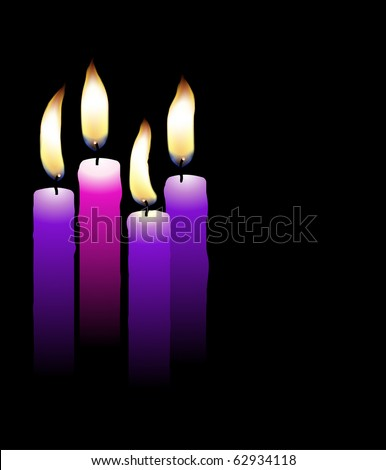 Realistic Advent candles (eps10 vector) - stock vector
