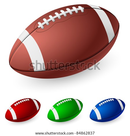 Realistic American football. Illustration on white background. - stock vector